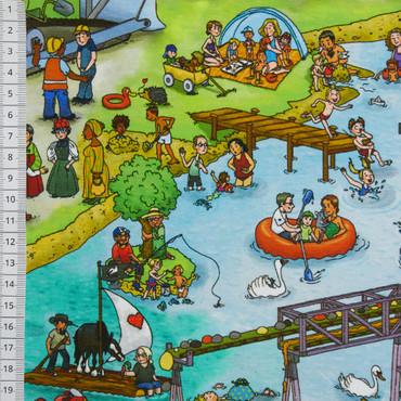 Wimmelbuch Jersey Baggersee – Bild 2