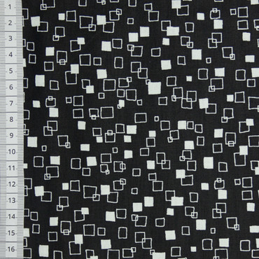 Makower Monochrome Squars schwarz