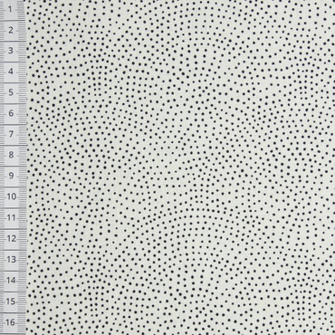 Makower Monochrome Dotty Scallop weiß – Bild 1