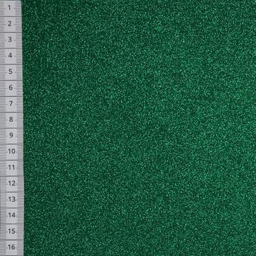 Glitzer Uni grün – Bild 1