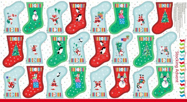 Makower Stocking Advent Calendar bunt/pan