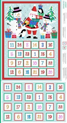 Makower Jolly Santa Advent Calendar bunt/pan