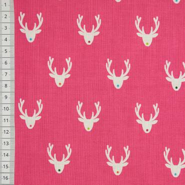 Makower Joyeux Reindeer pink – Bild 1