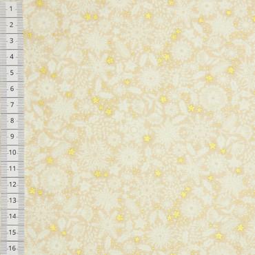 Makower Silent Night Schneeflocken Tonal beige – Bild 1