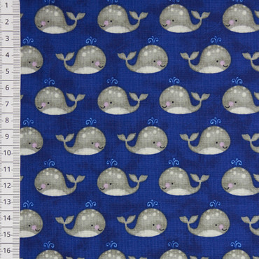 Anchors Away Mini Whales dunkelblau – Bild 1