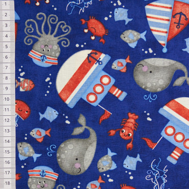 Anchors Away Tossed Sea Motifs dunkelblau – Bild 2
