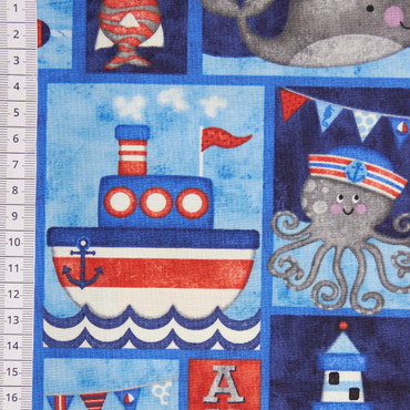 Anchors Away Patch dunkelblau – Bild 2