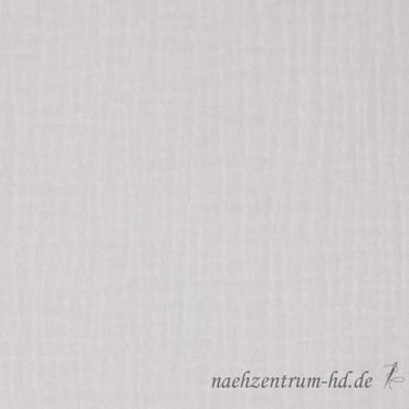 Musselin Double Gauze Uni weiß – Bild 1