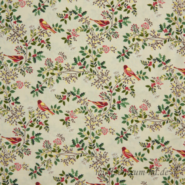 Makower Silent Night Birds in the Brier beige – Bild 1