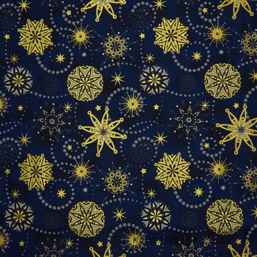 Amazing Stars Stardust nachtblau gold – Bild 1