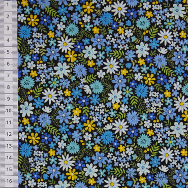 Makower Bloom Packed Flowers blau – Bild 2