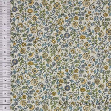 Makower Bloom Floral Scroll blau-beige-weiß – Bild 2