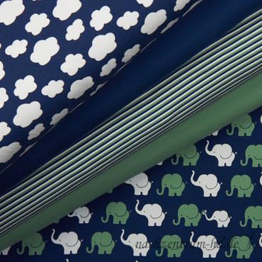 Elephant Parade Streifen blau-grün – Bild 3