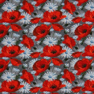 Swafing Mohnblume rot-grau – Bild 1