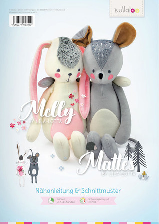"Kuscheltiere ""MELLY & MATTES"" by Lila-Lotta Schnittmuster"