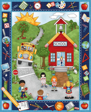 School Zone Panel von Studio E Fabrics – Bild 1