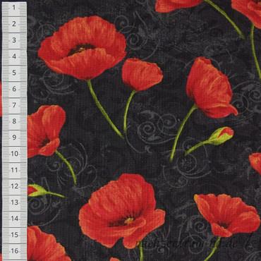 Scarlet Dance - Mohnblumen auf schwarz – Bild 2