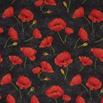 Scarlet Dance - Mohnblumen auf schwarz