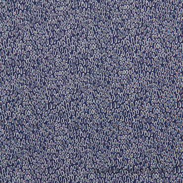 Michael Miller - Foxtail Fern - dunkelblauer Stoff mit weißen Tropfen – Bild 1