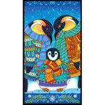 Wilmington Prints - Arctic Wonderland - Panel Pinguinfamilie