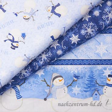 Wilmington Prints - Welcome Winter - Streifen blau – Bild 4