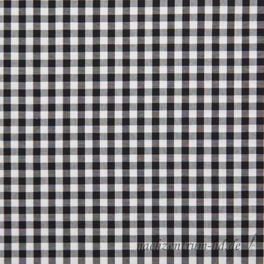 C. Pauli - Popeline Stoff, fein - Webkaro - schwarz/weiß – Bild 1