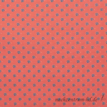 C. Pauli - Popeline Stoff, fein - Mini Hortensie dunkel – Bild 1