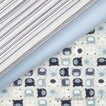 STOF Avalana Jersey - Streifen grau blau – Bild 3
