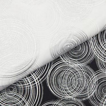 Hoffman Fabrics - Sparkle and Fade - Kreise in silber und weiß auf grau – Bild 3