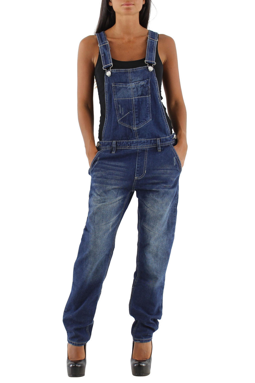 damen jeans hose baggy boyfriend latzhose latzjeans. Black Bedroom Furniture Sets. Home Design Ideas