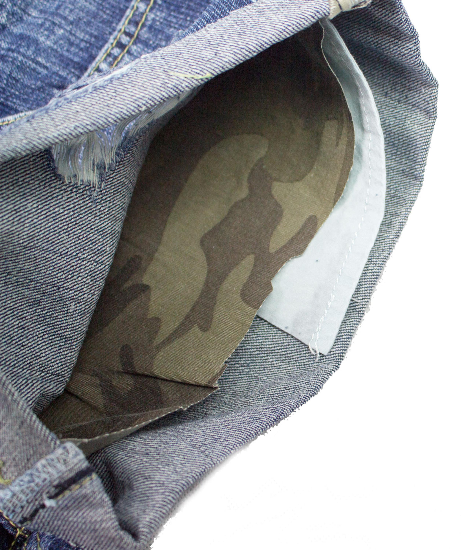 Damen Jeans Hot Pants Hüfthose Kurz Shorts Hotpants Camouflage Destroyed coton