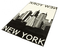 Design Velours Teppich New York City Motiv 140x200 Cm 101050