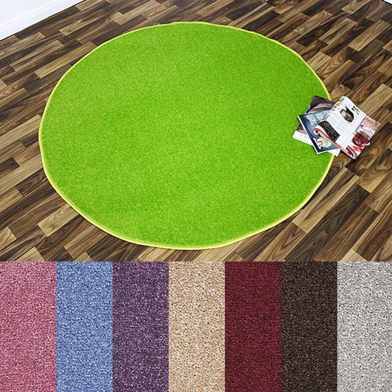 design kurzflor teppich beshir rund verschiedene farben 133cm oder 200cm teppiche design. Black Bedroom Furniture Sets. Home Design Ideas