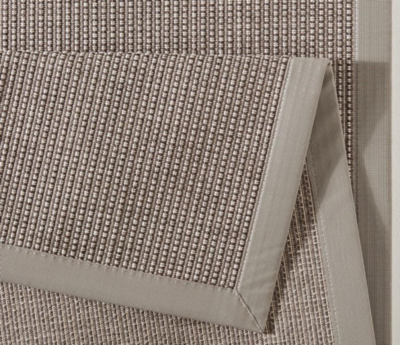Design Flachgewebe Teppich Infinite Lines Taupe Grau 102261