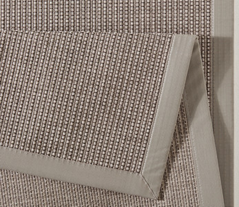 Design Flachgewebe Teppich Infinite Lines Taupe Grau | 102261 – Bild 2