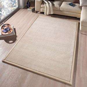 Design Teppich Kingdom mit Bordüre Melange-Effekt Creme | 102270 – Bild 1