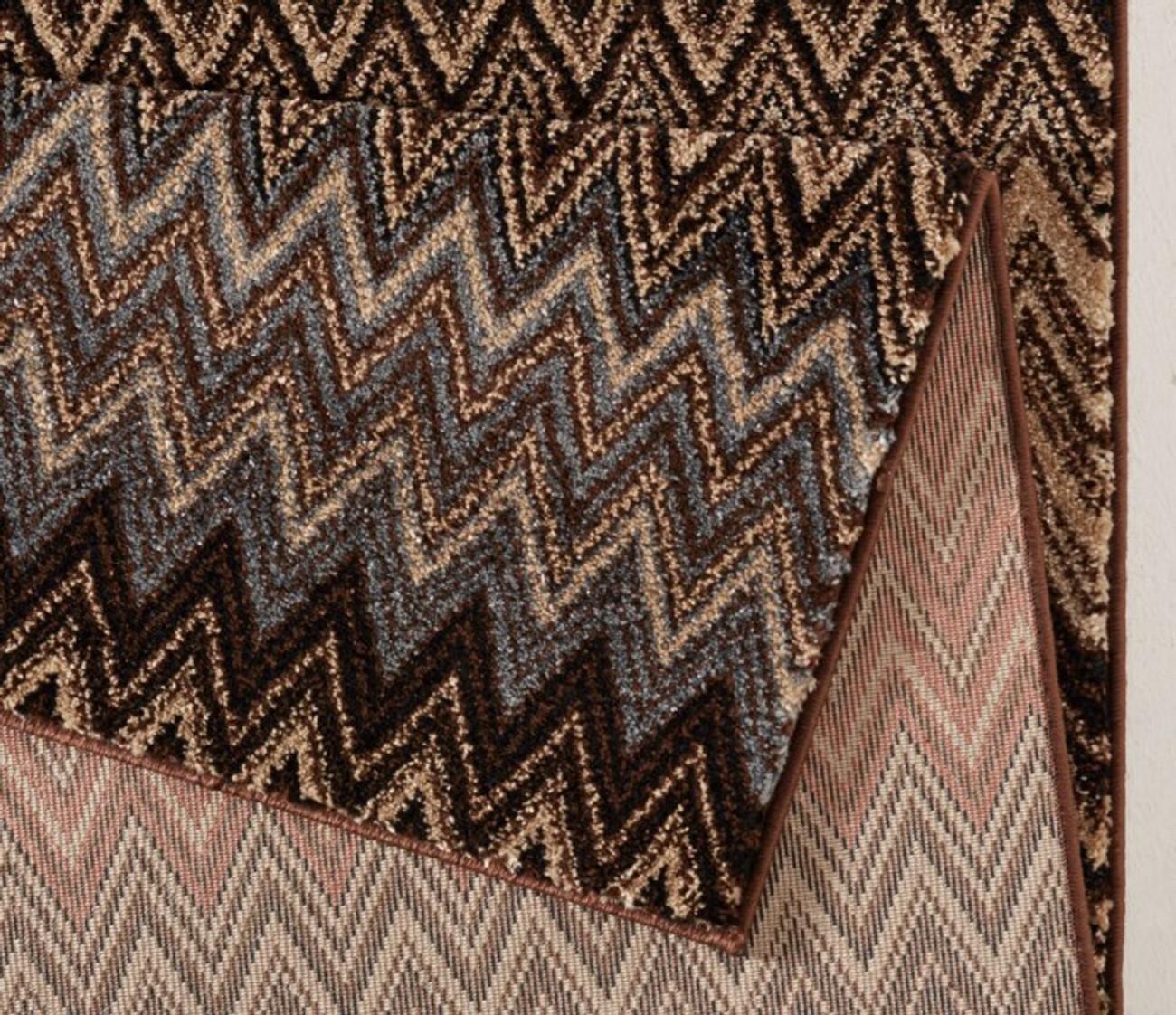 Teppich design braun  Design Velours Teppich Mission Bunt Braun | 102277 Teppiche Design ...