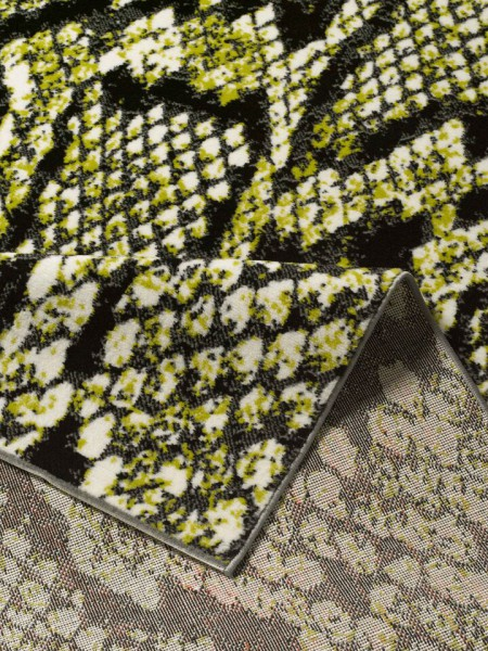 Teppich grün weiß  Designer Velours Teppich Reptil Schlange Grün Weiß Schwarz ...
