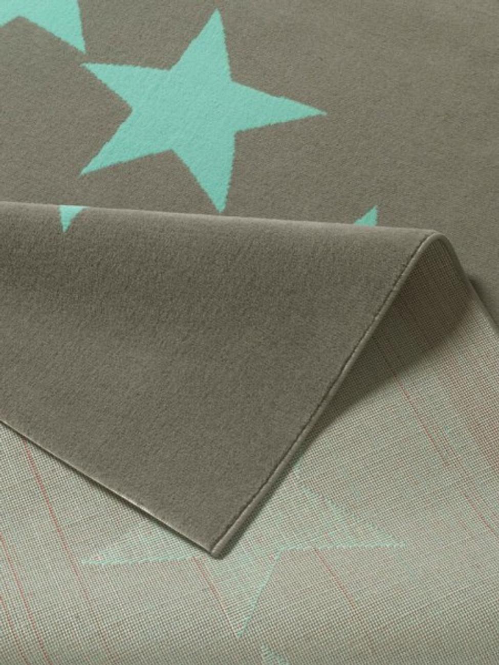design velours teppich sterne grau blau 140x200 cm 102327 teppiche design teppiche. Black Bedroom Furniture Sets. Home Design Ideas