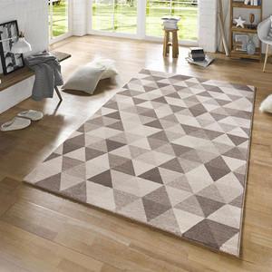 Design Teppich Prisma Grau Creme | 102435 – Bild 1