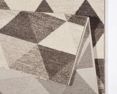 Design Teppich Prisma Grau Creme | 102435 – Bild 3