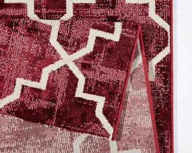 Design Teppich Elegance Rot Creme | 102440 – Bild 3