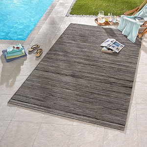 Design Outdoorteppich Lotus Grau melliert | 102446