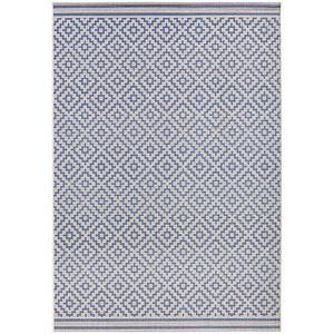 In- & Outdoorteppich Raute Blau Creme | 102464 – Bild 4