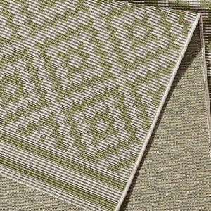 In- & Outdoorteppich Raute Grün Creme | 102465 – Bild 3