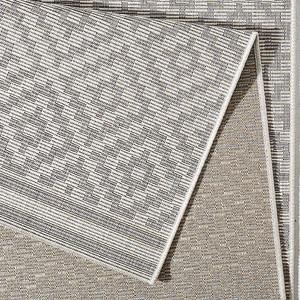 In- & Outdoorteppich Raute Grau Creme | 102467 – Bild 3