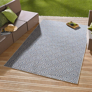 In- & Outdoorteppich Karo Blau | 102468 – Bild 2