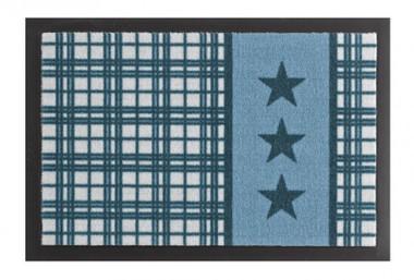Fussmatte Schmutzfangmatte Sterne Plaid Blau 40x60 cm