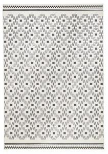Designer Velours Teppich Cubic Grau Creme