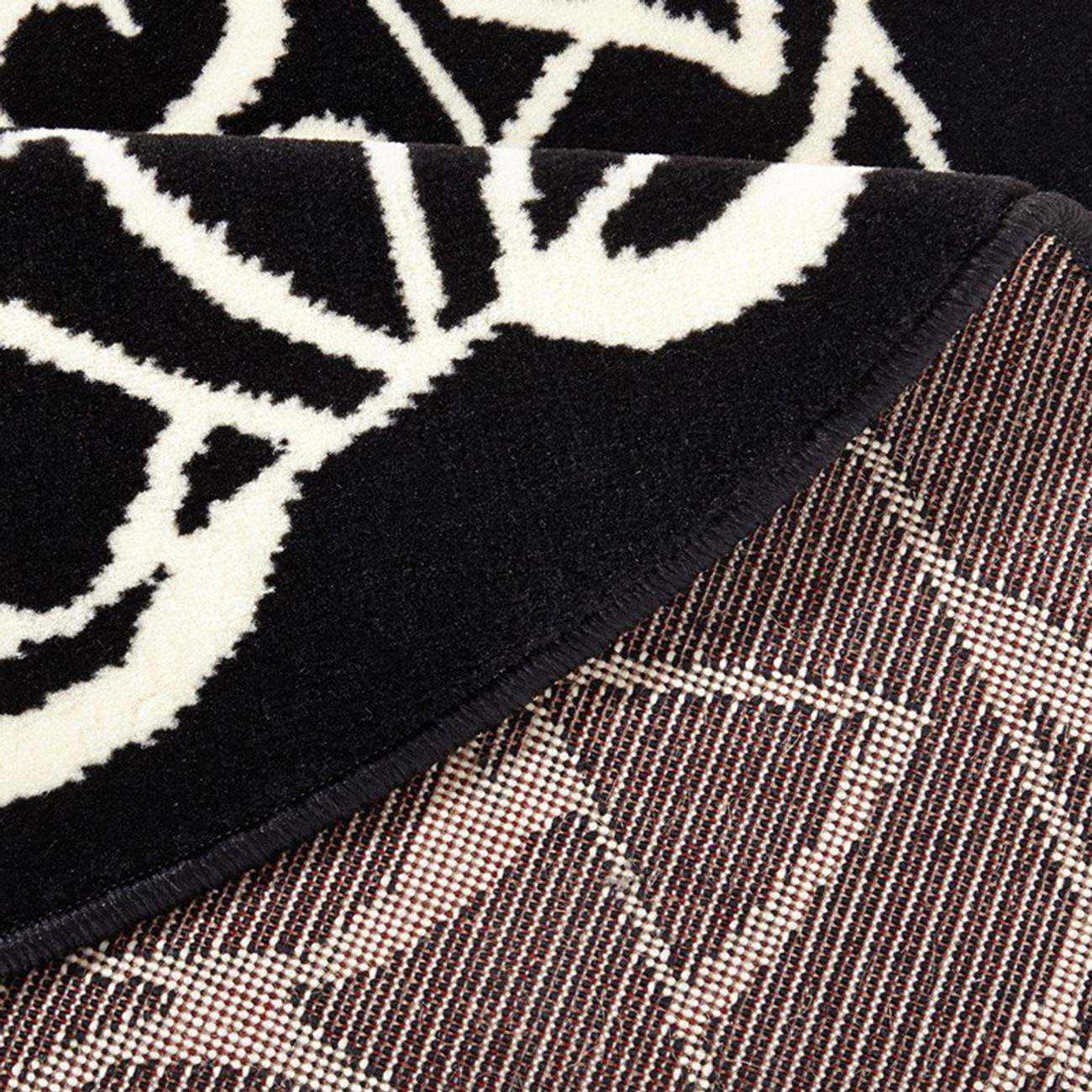 designer velours teppich mandala schwarz rund 140 cm teppiche design teppiche. Black Bedroom Furniture Sets. Home Design Ideas
